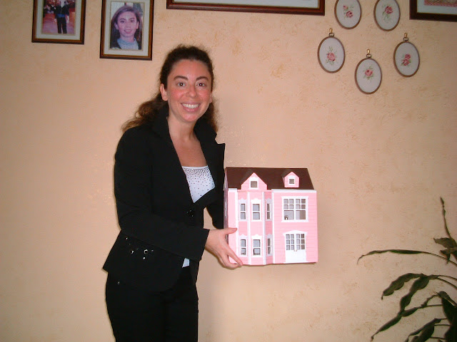Silvana Calabrese modellino villa vittoriana fatta a mano