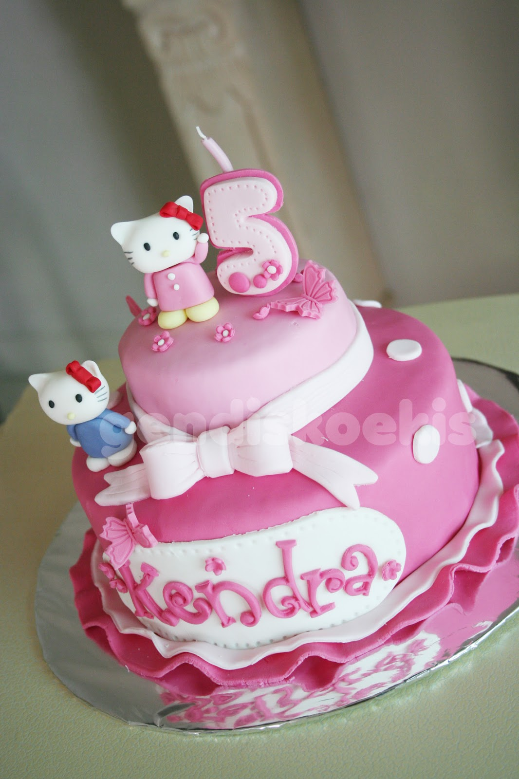 Gendiskoekis Hello Kitty Birthday Cake