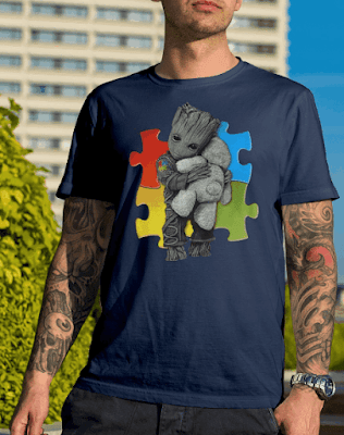 Autism Groot Hug Teddy Bear T Shirt