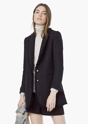 Mango Pocket Tweed Jacket