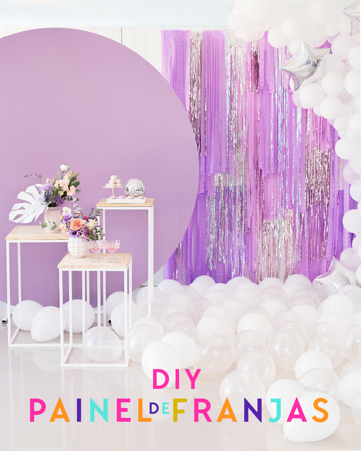 new year party decor fringe hang DIY blog do math