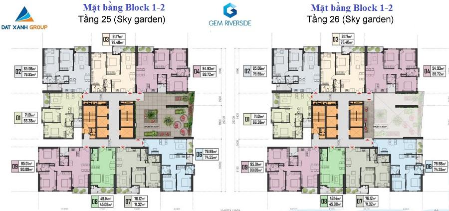 mặt bằng tầng 25-26 block 1-2