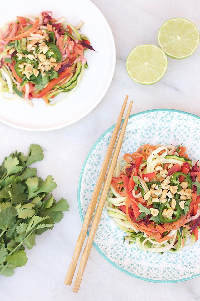 Skinny Vegan Pad Thai Salad