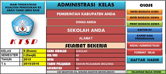 Aplikasi Administrasi Kelas SD (Sekolah Dasar)