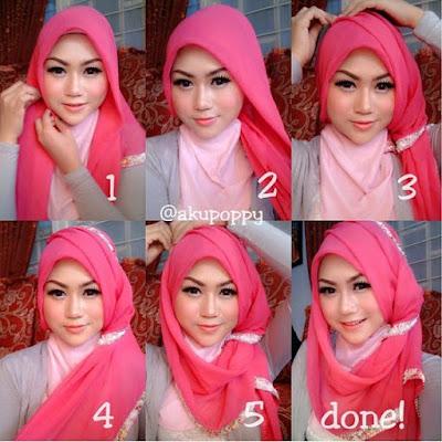Tutorial Style Hijab Pashmina Cute Bond
