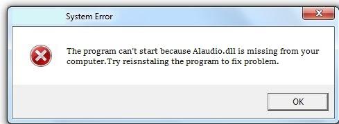 Télécharger Alaudio.dll Fichier Gratuit Installer