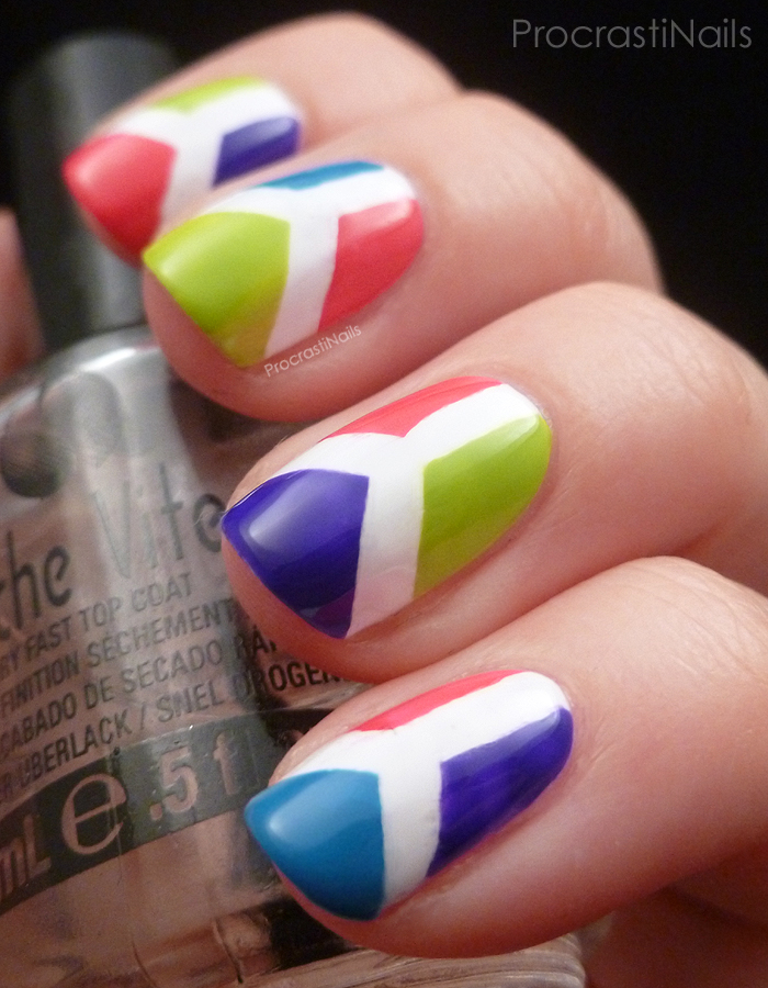 Summer Time Nail Art Challenge: Bright Colour Blocking ...