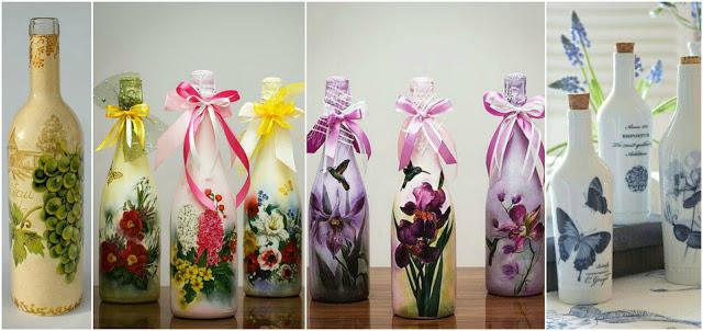 Aprende c mo decorar frascos de vidrio reciclados usando - Servilletas de papel decoradas para manualidades ...
