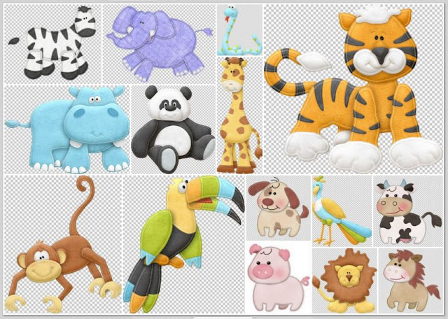 Sweet Baby Animals Clip Art.