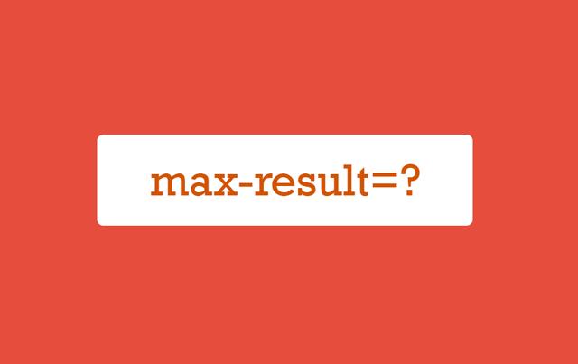 Blog Arama Sonuçları Kayıt Sayısını Sınırlandırma