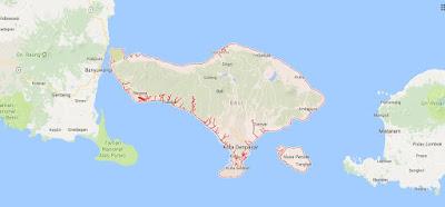Peta Wilayah Provinsi Bali