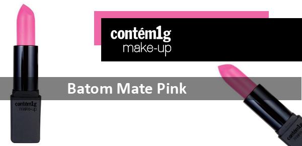 Batom pink matte Contém 1g