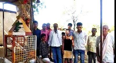 भैंरोबाबा मंदिर से संगमरमर की प्रतिमा चोरी | Pohari News