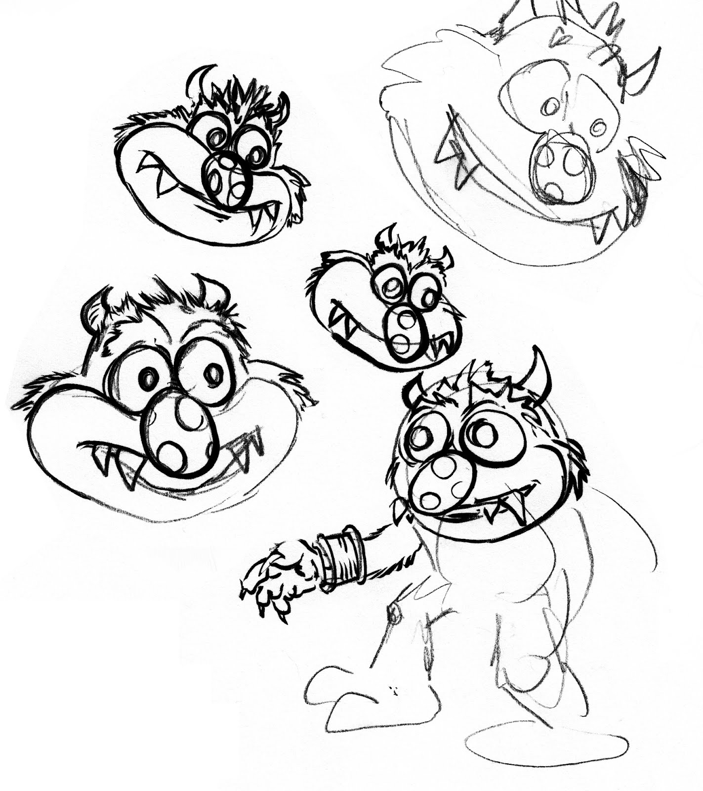 pretty good blog: Warm up Sketch : My Pet Monster
