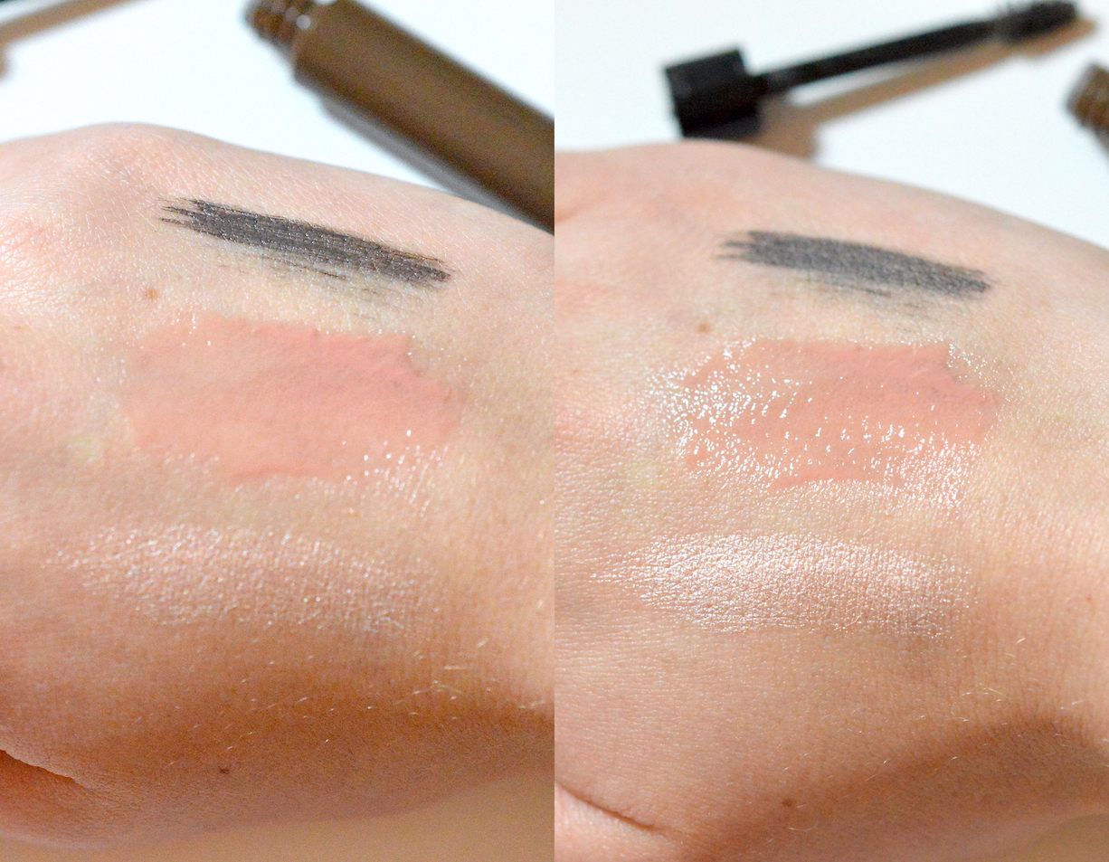 Hard Candy Swatches lip brow