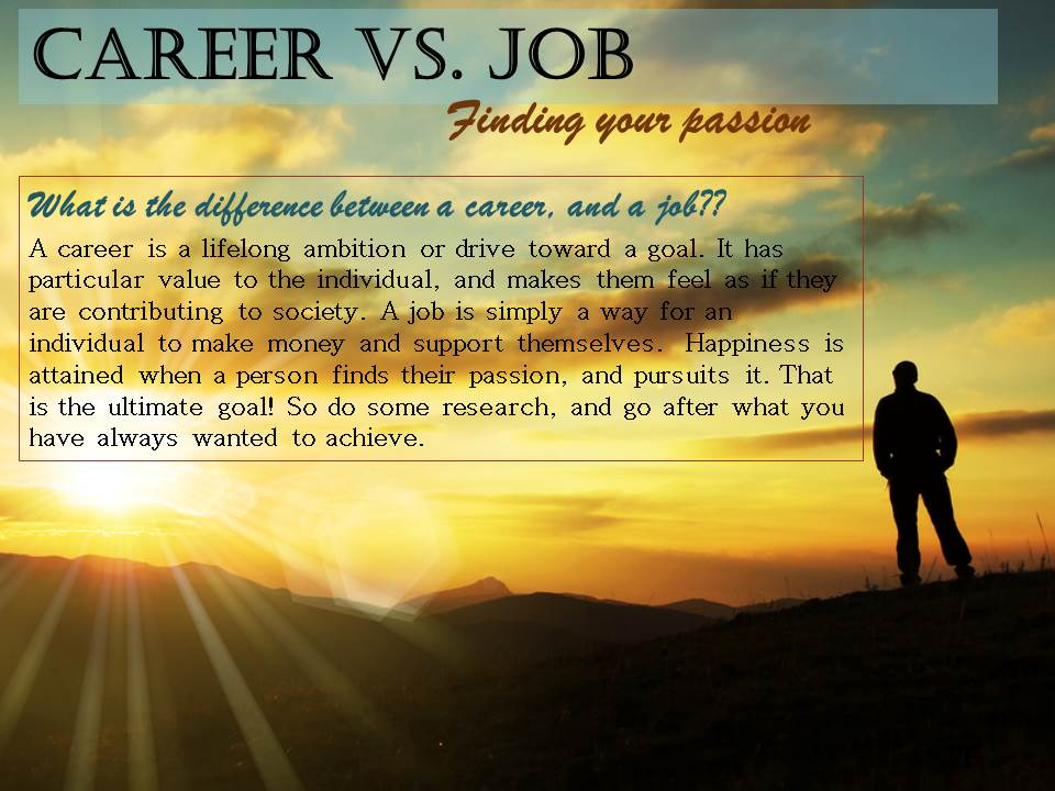 job versus career