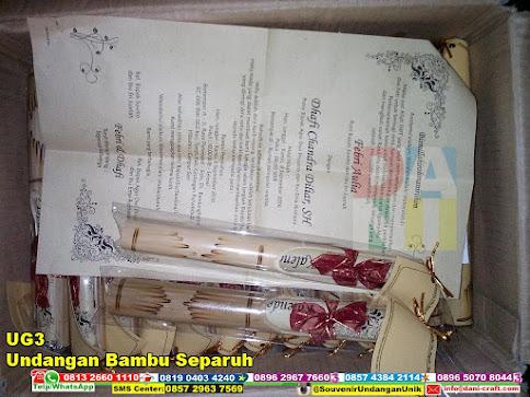 jual Undangan Bambu Separuh