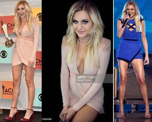 Kelsea Ballerini: Press room & Portraits [House of Zhivago] and. Live wearing Hayley Paige Jumpsuit (3 April 2016) Getty Images