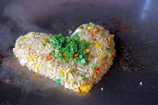 AIDAperla, Reis vom Teppanyaki Grill