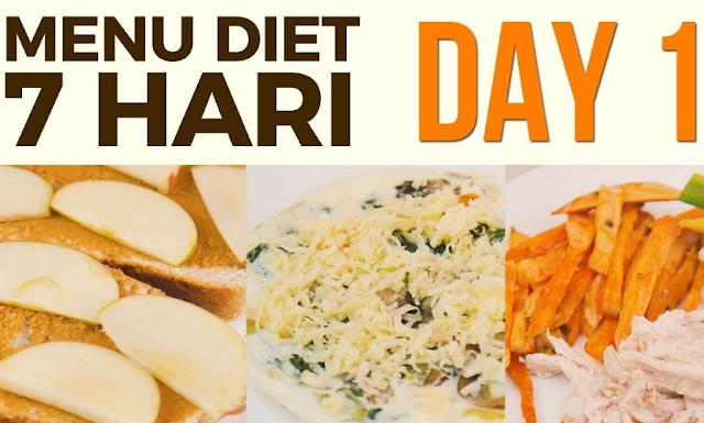 contoh pola makan 7 hari