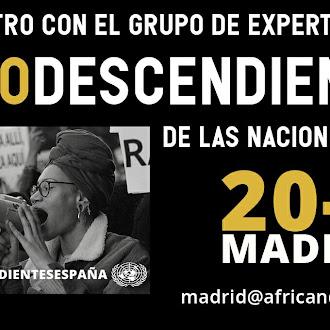 Encuentro de expertos sobre Afrodescendencia en Madrid
