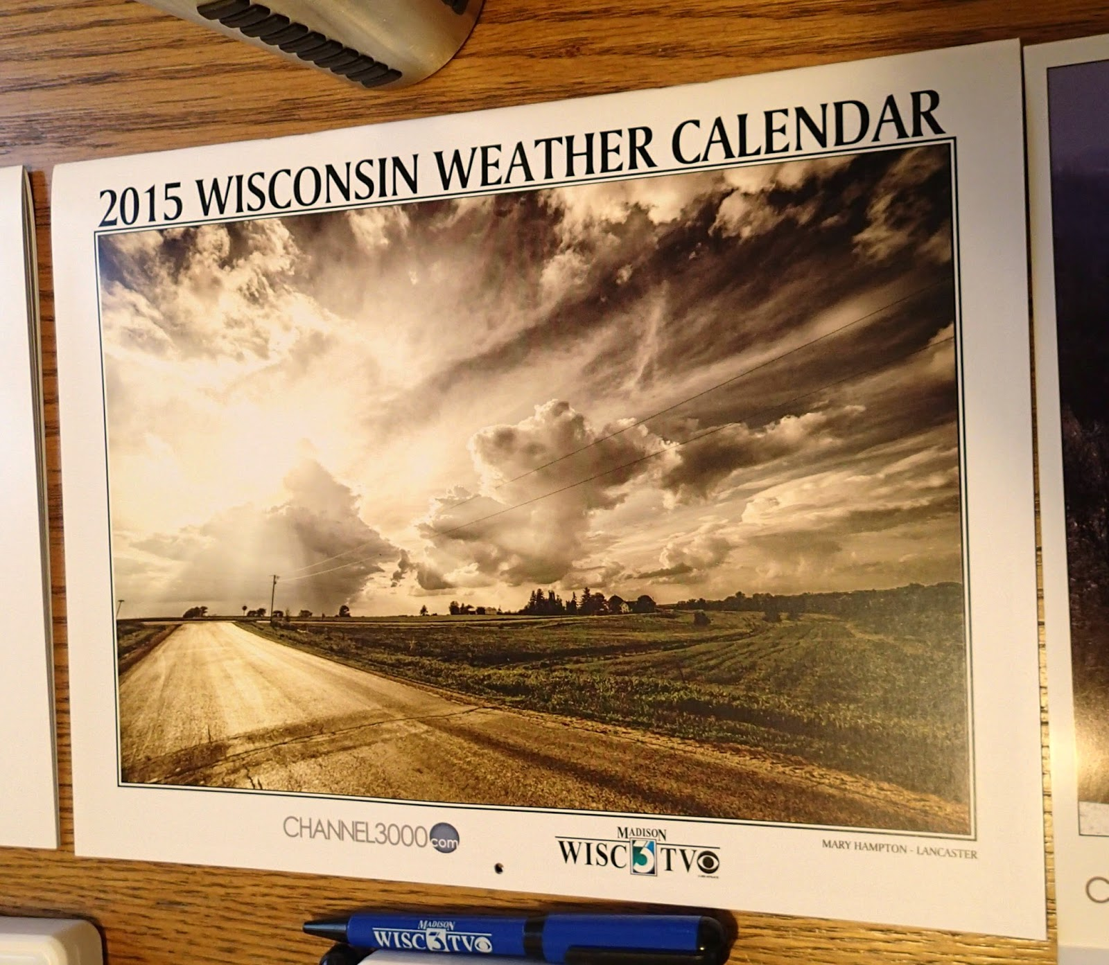The Stream Of Time: WISC-TV Weather Calendar 2015