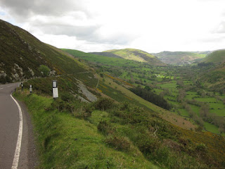 View of B4391 and the valley, toward Llangynog, Wales