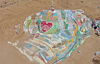 Vista aérea Salvation Mountain
