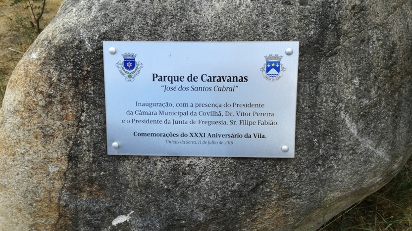 Placa do Parque de Caravanas