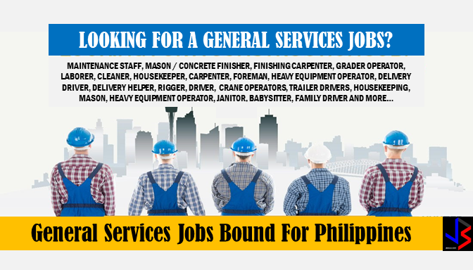 Are you looking for a job? The following are job vacancies for you. If interested, you may contact the employer/agency listed below to inquire further or to apply. Advertisements    JOB VACANCIES:  1. MAINTENANCE STAFF Vacancy Number: 5 Company Name: AUDIONET Work Experience: 1 year/s and 1 month/s Salary: P366 - P10,500 Jobs For: Highschool Graduates Office Address: REGION VII (CENTRAL VISAYAS)  2. MASON / CONCRETE FINISHER Vacancy Number: 60 Company Name: Grand Placement Agency Work Experience: 5 years/s Salary: P85,000 - P90,000 Office Address:  CITY OF MANILA, NCR. FIRST DISTRICT (Not a Province), NATIONAL CAPITAL REGION (NCR)  3. FINISHING CARPENTER Vacancy Number: 60 Company Name: Grand Placement Agency Work Experience: 5 years/s Salary: P2,000 - P3,000 Jobs For: Women, Highschool Graduates Office Address: 2nd Floor Building 1636 F. Agoncillo St. Malate Manila, Barangay 694, CITY OF MANILA, NCR. FIRST DISTRICT (Not a Province), NATIONAL CAPITAL REGION (NCR)  4. ROUGH & FINISHING CARPENTER Vacancy Number: 70 Company Name: Grand Placement Agency Work Experience: 5 years/s Salary: P2,000 - P2,500 Jobs For: Women, Highschool Graduates, Displaced Workers(Local), Balikbayans/OFW Returnees Office Address: 2nd Floor Building 1636 F. Agoncillo St. Malate Manila, Barangay 694, CITY OF MANILA, NCR. FIRST DISTRICT (Not a Province), NATIONAL CAPITAL REGION (NCR)  5. GRADER OPERATOR Vacancy Number: 60 Company Name: Grand Placement Agency Work Experience: 5 years/s Salary: P2,000 - P3,000 Jobs For: Women, Highschool Graduates, Displaced Workers(Local), Balikbayans/OFW Returnees Office Address: 2nd Floor Building 1636 F. Agoncillo St. Malate Manila, Barangay 694, CITY OF MANILA, NCR. FIRST DISTRICT (Not a Province), NATIONAL CAPITAL REGION (NCR)  6. LABORER Vacancy Number: 98 Company Name: Skills International Co., Inc. Work Experience: 2 yrs. year/s Salary: P16,000 - P16,000 Jobs For: Balikbayans/OFW Returnees Office Address: CEBU CITY (Capital), CEBU, REGION VII (CENTRAL VISAYAS)  7. CLEANER Vacancy Number: 38 Company Name: Skills International Co., Inc. Work Experience: 2 years/s Salary: P32,000 - P35,000 Jobs For: Balikbayans/OFW Returnees Office Address:, CITY OF KORONADAL (Capital), CITY OF KORONADAL (Capital), SOUTH COTABATO, REGION XII (SOCCSKSARGEN)  8. HOUSEKEEPER Vacancy Number: 29 Company Name: Skills International Co., Inc. Work Experience: 2 yrs. year/s Salary: P16,000 - P16,000 Jobs For: Balikbayans/OFW Returnees Office Address: CEBU CITY (Capital), CEBU, REGION VII (CENTRAL VISAYAS)  9. CARPENTER Vacancy Number: 5 Company Name: JECAMS INC Work Experience: 1-year year/s Office Address: QUEEN ST, Novaliches Proper, QUEZON CITY, NCR. SECOND DISTRICT (Not a Province), NATIONAL CAPITAL REGION (NCR)  10. FOREMAN Vacancy Number: 1 Company Name: DSJP CONSTRUCTION Work Experience: 2 years/s and 2 months/s Salary: P10,000 - P12,000 Jobs For: Women Office Address:  Bulacao, CITY OF TALISAY, CEBU, REGION VII (CENTRAL VISAYAS) Advertisement 11. HEAVY EQUIPMENT OPERATOR Vacancy Number: 1 Company Name: Tropical Fresh Fruits, Inc. Work Experience: 1 year/s and 1 month/s Salary: P11,500 - P12,000 Jobs For: Balikbayans/OFW Returnees Office Address: Emia Compound, Southern Davao, CITY OF PANABO, DAVAO DEL NORTE, REGION XI (DAVAO REGION)  12. TRAILER DRIVER FOR SAN FERNANDO, PAMPANGA Vacancy Number : 10 Company Name: Servicore Inc. Work Experience: 3 years/s and 5 months/s Salary: P18,000 - P25,000 Jobs For: Balikbayans/OFW Returnees Office Address: 5th Floor SCC Bldg CFA compound, Old Sta. Mesa Road, Sta. Mesa, Manila, Barangay 587, CITY OF MANILA, NCR. FIRST DISTRICT (Not a Province), NATIONAL CAPITAL REGION (NCR)  13. DELIVERY HELPER/ CARGO HANDLER II Vacancy Number: 4 Company Name: CREST FORWARDER INC Work Experience: 1 year/s and 1 month/s Salary: P9,500 - P14,000 Jobs For: Women Office Address: Door 203, PMM Bldg., MJ Cuenco Ave., Mabolo, CEBU CITY (Capital), CEBU, REGION VII (CENTRAL VISAYAS)  14. DELIVERY DRIVER Vacancy Number: 4 Company Name: CREST FORWARDER INC Work Experience: 1 year/s and 6 months/s Salary: P9,500 - P15,000 Jobs For: Women Office Address: Door 203, PMM Bldg., MJ Cuenco Ave., Mabolo, CEBU CITY (Capital), CEBU, REGION VII (CENTRAL VISAYAS)  15. TRAILER DRIVER Vacancy Number: 10 Company Name: BRIGHT INTERNATIONAL MANPOWER SERVICES, INC. Work Experience: 2 years/s and 4 months/s Salary: P500 - P600 Jobs For: Highschool Graduates, Balikbayans/OFW Returnees Office Address: #1563 AP Bldg. 5th Floor, Room 506, Pedro Gil. cor. F. Agoncillo Street, Barangay 675, CITY OF MANILA, NCR. FIRST DISTRICT (Not a Province), NATIONAL CAPITAL REGION (NCR)   16. RIGGER Vacancy Number: 20 Company Name: SKILLED MANAGEMENT CORPORATION Work Experience: 2 years/s and 1 month/s Salary: P18,000 - P25,000 Jobs For: Balikbayans/OFW Returnees Office Address: Room 203b-Bernardo Bldg. Magallanes St. Back of City Hall, Barangay 1-A (Pob.), DAVAO CITY, DAVAO DEL SUR, REGION XI (DAVAO REGION)  17. TRUCK DRIVER FOR DAVAO Vacancy Number: 5 Company Name: Manly Plastics, Inc. Work Experience: 1 year/s Jobs For: Highschool Graduates, Displaced Workers(Local), Balikbayans/OFW Returnees Office Address: 404 M. H. Del Pilar, Maysilo, CITY OF MALABON, NCR. THIRD DISTRICT (Not a Province), NATIONAL CAPITAL REGION (NCR)  18. DRIVER Vacancy Number: 1 Company Name: DSJP CONSTRUCTION Work Experience: 1 year/s and 1 month/s Salary: P10,000 - P12,000 Jobs For: Women Office Address:  Bulacao, CITY OF TALISAY, CEBU, REGION VII (CENTRAL VISAYAS)  19. CONCRETE PUMP OPERATOR Vacancy Number: 5 Company Name: SKILLED MANAGEMENT CORPORATION Work Experience: 3 years/s and 1 month/s Salary: P20,000 - P30,000 Jobs For: Balikbayans/OFW Returnees Office Address: Room 203b-Bernardo Bldg. Magallanes St. Back of City Hall  20. HEAVY EQUIPMENT OPERATORS Vacancy Number: 20 Company Name: SKILLED MANAGEMENT CORPORATION Work Experience: 3 years/s and 1 month/s Salary: P15,000 - P25,000 Jobs For: Balikbayans/OFW Returnees Office Address: Room 203b-Bernardo Bldg. Magallanes St. Back of City Hall  21. CRANE OPERATORS Vacancy Number: 20 Company Name: SKILLED MANAGEMENT CORPORATION Work Experience: 3 years/s and 6 months/s Salary: P15,000 - P24,000 Jobs For: Balikbayans/OFW Returnees Office Address: Room 203b-Bernardo Bldg. Magallanes St. Back of City Hall, Barangay 1-A (Pob.), DAVAO CITY, DAVAO DEL SUR, REGION XI (DAVAO REGION)  22. TRAILER DRIVERS Vacancy Number: 20 Company Name: SKILLED MANAGEMENT CORPORATION Work Experience: 3 years/s and 5 months/s Salary: P15,000 - P25,000 Jobs For: Balikbayans/OFW Returnees Office Address: Room 203b-Bernardo Bldg. Magallanes St. Back of City HallDavao City, Barangay 1-A (Pob.), DAVAO CITY, DAVAO DEL SUR, REGION XI (DAVAO REGION)  23. TRUCK DRIVER Vacancy Number: 42 Company Name: VCargo Worldwide Work Experience: 2 years/s and 6 months/s Salary: P12,766 - P13,500 Jobs For: Balikbayans/OFW Returnees Office Address: 1242 A. Sandoval Ave., San Miguel, CITY OF PASIG, NCR. SECOND DISTRICT (Not a Province), NATIONAL CAPITAL REGION (NCR)  24. TRACTOR HEAD DRIVER Vacancy Number: 10 Company Name: VCargo Worldwide Work Experience: 2 years/s and 2 months/s Salary: P16,000 - P17,500 Jobs For: Displaced Workers(Local), Balikbayans/OFW Returnees Office Address: 1242 A Sandoval Avenue, Brgy. San Miguel, Pasig City, San Miguel, CITY OF PASIG, NCR. SECOND DISTRICT (Not a Province), NATIONAL CAPITAL REGION (NCR)  25. TRUCK DRIVER Vacancy Number : 3 Company Name: Techno Trade Resources Inc. Work Experience: 1-month year/s Salary: P10,000 - P20,000 Office Address: CEBU CITY (Capital), CEBU, REGION VII (CENTRAL VISAYAS)  Sponsored Links 26. DRIVER Vacancy Number: 10 Company Name: Techno Trade Resources Inc. Work Experience: 1 year/s Salary: P10,000 - P12,000 Jobs For: Women Office Address: 164 r. castillo st., Agdao, DAVAO CITY, DAVAO DEL SUR, REGION XI (DAVAO REGION)  27. TRUCK DRIVER Vacancy Number : 3 Company Name: Manly Plastics, Inc. Work Experience: 1 year/s Salary: P8,000 - P8,500 Jobs For: Highschool Graduates Balikbayans/OFW Returnees Office Address: DAVAO CITY, DAVAO DEL SUR, REGION XI (DAVAO REGION)  28. HOUSEKEEPING Vacancy Number: 4 Company Name: FCLaranang Group of Companies Work Experience: 6 month/s Salary: P8,000 - P10,000 Jobs For: Women Office Address: 181 Springwater Street Crystal Cave, Bakakeng Central, BAGUIO CITY, BENGUET, CORDILLERA ADMINISTRATIVE REGION (CAR)  29. PAINTER Vacancy Number: 10 Company Name: FCLaranang Group of Companies Work Experience: 6 months year/s Salary: P8,000 - P10,000 Office Address: 181 Springwater Street Crystal Cave, Bakakeng Central, BAGUIO CITY, BENGUET, CORDILLERA ADMINISTRATIVE REGION (CAR)  30. STEELMAN Vacancy Number: 10 Company Name: FCLaranang Group of Companies Work Experience: 6 months year/s Salary: P8,000 - P10,000 Office Address: 181 Springwater Street Crystal Cave, Bakakeng Central, BAGUIO CITY, BENGUET, CORDILLERA ADMINISTRATIVE REGION (CAR)  31. MASON Vacancy Number: 10 Company Name: FCLaranang Group of Companies Work Experience: 6 months year/s Salary: P8,000 - P10,000 Office Address: 181 Springwater Street Crystal Cave, Bakakeng Central, BAGUIO CITY, BENGUET, CORDILLERA ADMINISTRATIVE REGION (CAR)  32. CARPENTER Vacancy Number: 10 Company Name: FCLaranang Group of Companies Work Experience: 6 months year/s Salary: P8,000 - P10,000.Office Address: 181 Springwater Street Crystal Cave, Bakakeng Central, BAGUIO CITY, BENGUET, CORDILLERA ADMINISTRATIVE REGION (CAR)  33. HEAVY EQUIPMENT OPERATOR Vacancy Number: 2 Company Name: FCLaranang Group of Companies Work Experience: 6 months year/s Salary: P10,000 - P0 Office Address: 181 Springwater Street Crystal Cave, Bakakeng Central, BAGUIO CITY, BENGUET, CORDILLERA ADMINISTRATIVE REGION (CAR)  34. TRUCK DRIVER / TRAILER DRIVER Vacancy Number: 9 Company Name: STARBORNE INTERNATIONAL PROMOTIONS AND MANPOWER CORPORATION Work Experience: 6 month/s Salary: P24,849 - P28,825 Jobs For: Highschool Graduates, Displaced Workers(Local), Balikbayans/OFW Returnees Office Address: Mabini St. cor Malvar St. Malate, Barangay 96, CITY OF MANILA, NCR. FIRST DISTRICT (Not a Province), NATIONAL CAPITAL REGION (NCR)  35. JANITOR Vacancy Number: 2 Company Name: Fortune (Hong Kong) Seafood Restaurant Work Experience: 1 year/s Salary: P300 - P300 Jobs For: Balikbayans/OFW Returnees Office Address: 16 Otek Street, Rizal Monument Area, BAGUIO CITY, BENGUET, CORDILLERA ADMINISTRATIVE REGION (CAR)  36. DRIVER Vacancy Number : 5 Company Name: Ramasia International Manpower Services Inc. Work Experience: 2 years/s and 24 months/s Salary: P23,000 - P23,500 Jobs For: Highschool Graduates Office Address: CITY OF MANILA, NCR. FIRST DISTRICT (Not a Province), NATIONAL CAPITAL REGION (NCR)  37. MASON GENERAL Vacancy Number: 4 Company Name: STARBORNE INTERNATIONAL PROMOTIONS AND MANPOWER CORPORATION Work Experience: 1 year/s Jobs For: Highschool Graduates, Balikbayans/OFW Returnees Office Address: CITY OF MANILA, NCR. FIRST DISTRICT (Not a Province), NATIONAL CAPITAL REGION (NCR)  38. CARPENTER Vacancy Number : 3 Company Name: Toyoflex Cebu Corporation Work Experience: 1 year/s Salary: P10,000 - P12,000 Jobs For: Women, Balikbayans/OFW Returnees Office Address: Ibo, LAPU-LAPU CITY (OPON), CEBU, REGION VII (CENTRAL VISAYAS)  39. OPERATOR ROAD EQUIPMENT Vacancy Number: 5 Company Name: STARBORNE INTERNATIONAL PROMOTIONS AND MANPOWER CORPORATION Work Experience: 1 year/s Jobs For: Highschool Graduates, Balikbayans/OFW Returnees Office Address: CITY OF MANILA, NCR. FIRST DISTRICT (Not a Province), NATIONAL CAPITAL REGION (NCR)  40. BABYSITTER Vacancy Number: 10 Company Name: STARBORNE INTERNATIONAL PROMOTIONS AND MANPOWER CORPORATION Work Experience: 1 year/s Jobs For: Women, Highschool Graduates, Balikbayans/OFW Returnees Office Address: CITY OF MANILA, NCR. FIRST DISTRICT (Not a Province), NATIONAL CAPITAL REGION (NCR)  41. DRIVER Vacancy Number: 2 Company Name: Eagle Star Industrial Sales Corporation Work Experience: 2 years/s Salary: P12,500 - P13,500 Jobs For: Highschool Graduates Office Address: 888 Amang Rodrigues Ave. Santolan Pasig, Santolan, CITY OF PASIG, NCR. SECOND DISTRICT (Not a Province), NATIONAL CAPITAL REGION (NCR)  42. PRIME MOVER DRIVER Vacancy Number: 1 Company Name: SIMON GROUP OF COMPANIES Work Experience: 1 year/s and 1 month/s Salary: P562 - P732 Jobs For: Highschool Graduates, Displaced Workers(Local) Office Address: Plaridel, Ermita (Pob.), CEBU CITY (Capital), CEBU, REGION VII (CENTRAL VISAYAS)  43. BABYSITTER Vacancy Number: 5 Company Name: STARBORNE INTERNATIONAL PROMOTIONS AND MANPOWER CORPORATION Work Experience: 6 month/s Jobs For: Women, Highschool Graduates, Balikbayans/OFW Returnees Office Address: UNIT 207 & 210 VAREB MANSION BLDG 1679 A. MABINI ST., Barangay 699, CITY OF MANILA, NCR. FIRST DISTRICT (Not a Province), NATIONAL CAPITAL REGION (NCR)  44. FAMILY DRIVER Vacancy Number: 4 Company Name: Ramesh Trading Corporation Work Experience: 2 years/s Jobs For: Highschool Graduates Office Address: Warehouse P3 & 4, JY and Sons Compound Veterans Road, Central Bicutan, TAGUIG CITY, NCR. FOURTH DISTRICT (Not a Province), NATIONAL CAPITAL REGION (NCR)  45. DRIVER Vacancy Number: 2 Company Name: ALTURAS SUPERMARKET CORPORATION Work Experience: 1 year/s Jobs For: Displaced Workers(Local) Office Address: B. INTING STREET, TAGBILARAN CITY, BOHOL, PHILIPPINES, Poblacion II, TAGBILARAN CITY (Capital), BOHOL, REGION VII (CENTRAL VISAYAS)  46. DELIVERY DRIVER Vacancy Number: 20 Company Name: Polygon Manpower Resources, Inc. Work Experience: 1 year/s Salary: P11,044 - P13,052 Jobs For: Highschool Graduates Office Address: Unit 9 Lot 1 Vistra Riva Townhouse Pulanglupa 1 Las Piñas, Pulang Lupa Uno, CITY OF LAS PIÑAS, NCR. FOURTH DISTRICT (Not a Province), NATIONAL CAPITAL REGION (NCR)  47. DRIVER Vacancy Number: 2 Company Name: SOSES MARKETING ENTERPRISES INC. Salary: P9,000 - P10,000 Jobs For: Highschool Graduates Office Address: Santo Domingo, ANGELES CITY, PAMPANGA, REGION III (CENTRAL LUZON)  48. GARBAGE TRUCK DRIVER Vacancy Number: 99 Company Name: Phil Ecology Systems Corporation Work Experience: 2 years/s and 3 months/s Salary: P10,000 - P12,000 Jobs For: Displaced Workers(Local), Balikbayans/OFW Returnees Office Address: 2nd Floor R-II Building, 136 Malakas Street, Diliman, Quezon City 1104 Philippines, Central, QUEZON CITY, NCR. SECOND DISTRICT (Not a Province), NATIONAL CAPITAL REGION (NCR)  49. BACKHOE OPERATOR/PAYLOADER Vacancy Number: 2 Company Name: Phil Ecology Systems Corporation Work Experience: 2 years/s and 3 months/s Salary: P10,000 - P14,000 Jobs For: Displaced Workers(Local), Balikbayans/OFW Returnees Office Address: 2nd Floor R-II Building, 136 Malakas Street, Diliman, Quezon City 1104 Philippines, Central, QUEZON CITY, NCR. SECOND DISTRICT (Not a Province), NATIONAL CAPITAL REGION (NCR)  50. HOUSEKEEPING Vacancy Number: 11 Company Name: KEY'S PLACEMENT INC. Work Experience: 1 year/s and 2 months/s Salary: P400 - P450 Jobs For: Women Office Address: CITY OF MANILA, NCR. FIRST DISTRICT (Not a Province), NATIONAL CAPITAL REGION (NCR)  SOURCE: philjobnet.gov.ph  DISCLAIMER: Thoughtskoto is not affiliated to any of these companies. The information gathered here is verified and gathered from the philjobnet.gov.ph website.  RELATED POSTS: