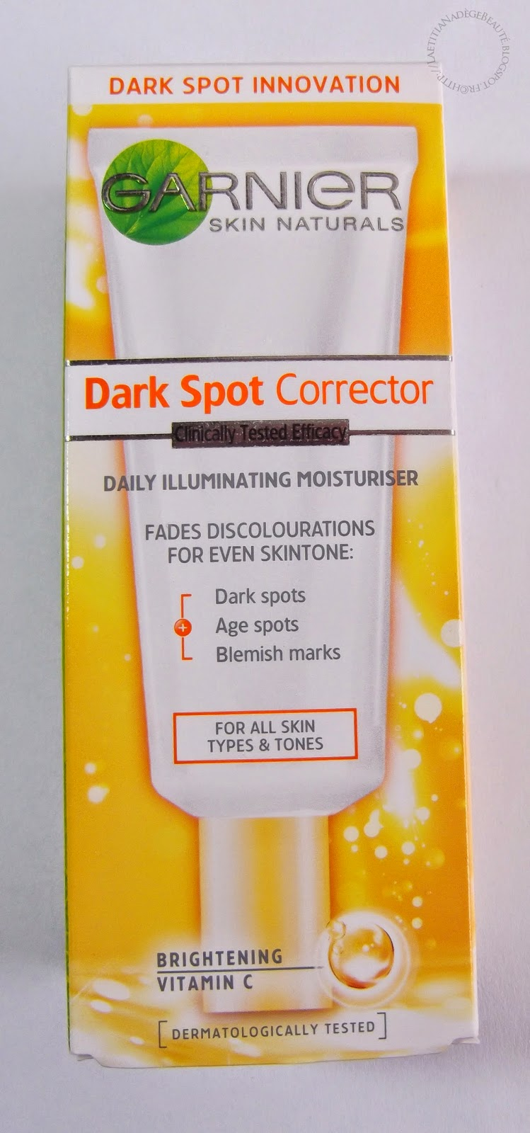 cosmelista garnier dark spot corrector correcteur anti taches review swatches. Black Bedroom Furniture Sets. Home Design Ideas