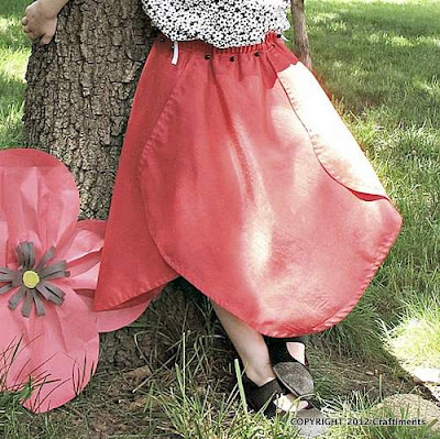Poppy Petal Skirt from Craftiments.com