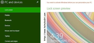 fitur windows bajakan terkunci