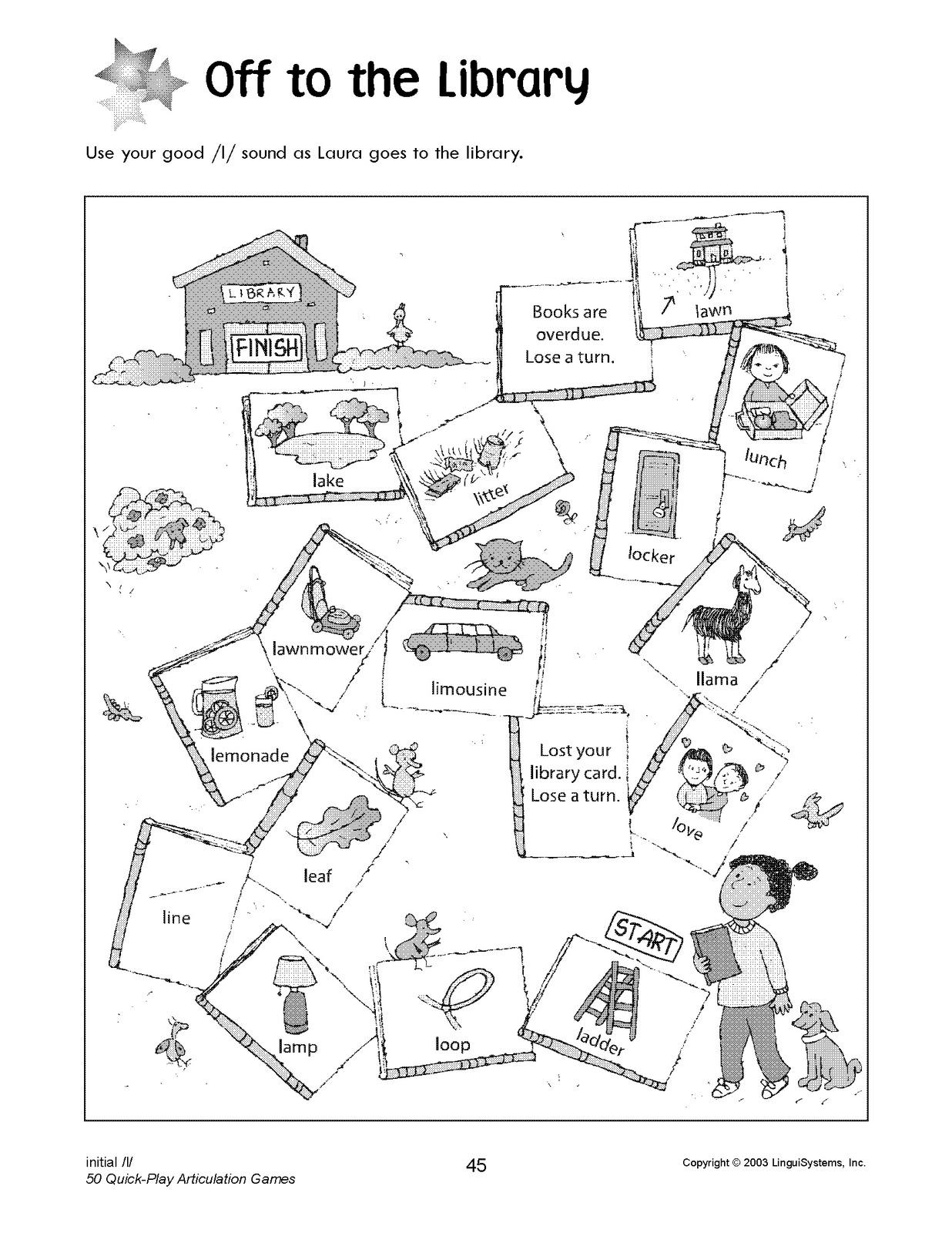East Meadows Speech November Preschool Speech Homework Week 5