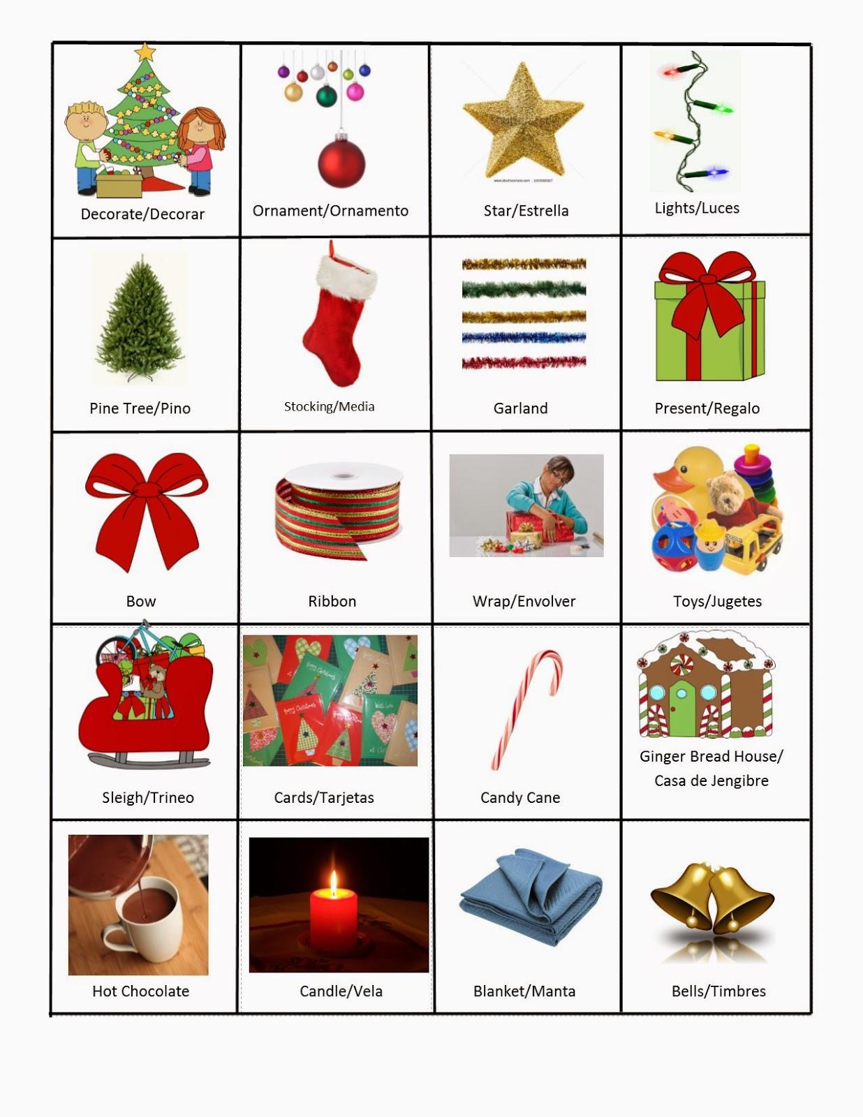 Speech Languagetherapysessions December Vocabulary Words