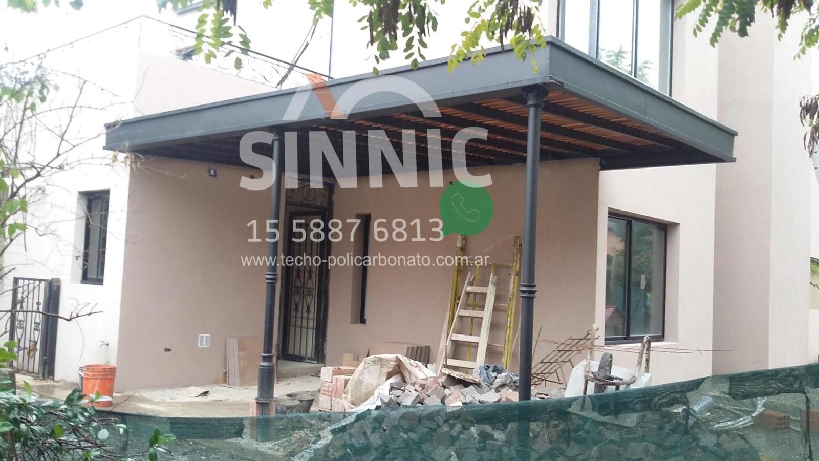 Techo de policarbonato pergolas aleros for Diferentes tipos de techos para terrazas