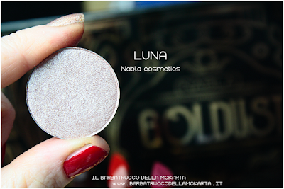 LUNA recensione eyeshadow ombretto  goldust collection Nabla cosmetics