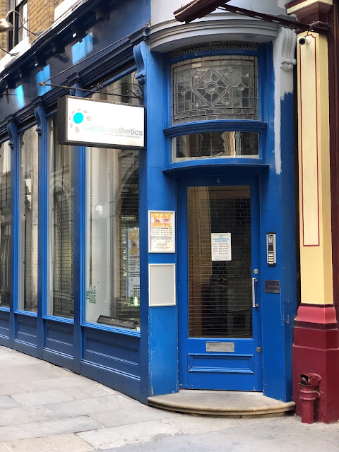 The Location of the Leaky Cauldron in London. It's a blue opticians.