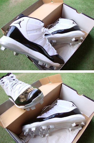 75bf090f43f Here is a look via CNoriega 2007 at the Air Jordan Retro 11 - C.C Sabathia  Player Exclusive Cleats