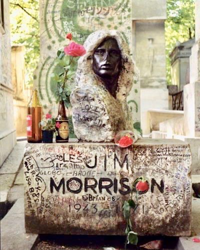 Jim Morrisons' grave in Paris covered in graffiti from fans. Mr. Mojo Risin and other stories of Rock, Radio, and Regulations. Marchmatron.com