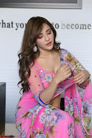 Actress Angela Krislinzki in Pink Saree Blouse Exclusive Pics March 2017 ~  027.JPG
