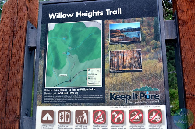 Willow Lake Trailhead Sign