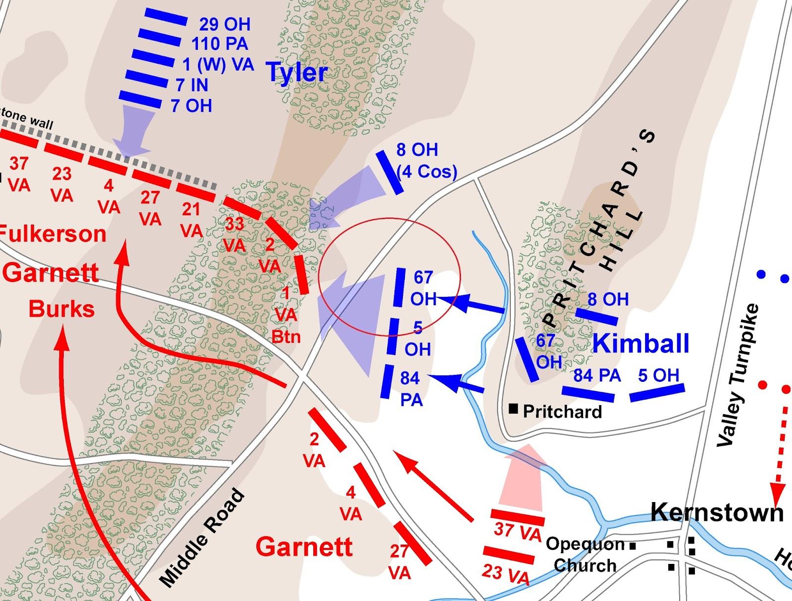 map of the battle of kernstown by hal jespersen www cwmaps com