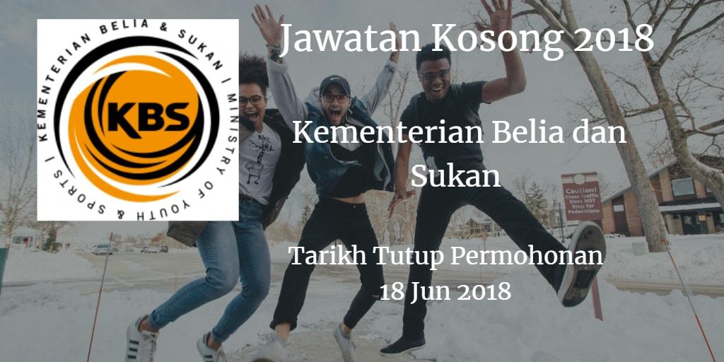 Jawatan Kosong KBS 18 Jun 2018