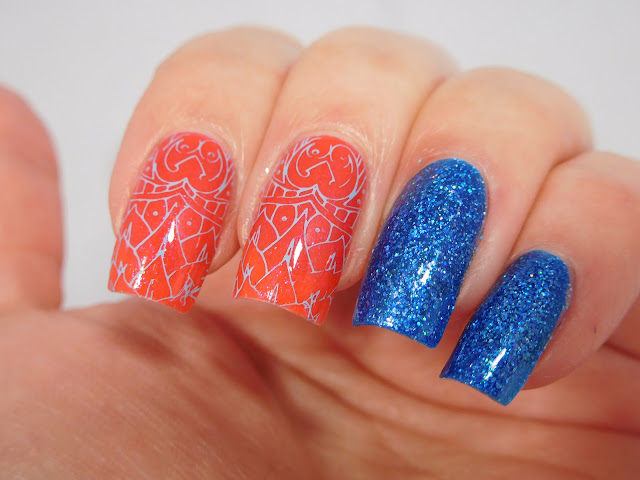 Messy Mansion Symetrika 09 + Blue-Eyed Girl Lacquer Best Selling Show and Deep Blue Dream
