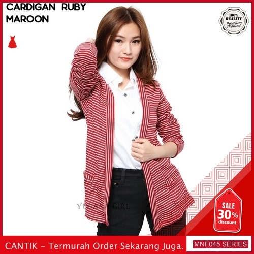 MNF045J163 Jaket Ruby Wanita Salur Cardigan terbaru 2019 BMGShop