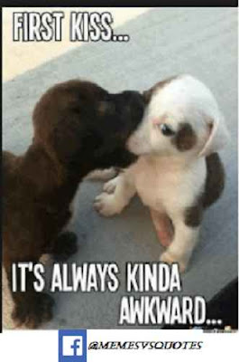 First kiss awkward meme