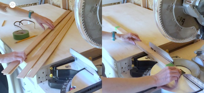 cutting lath for fabric or poster frame