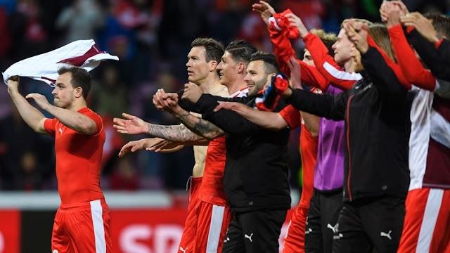 Suiza 1-0 Letonia eliminatorias Rusia 2018