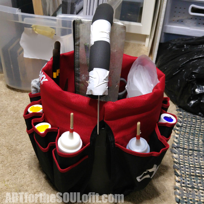 Art Supplies Bucket Carrier - Art Tip by Joanie Springer